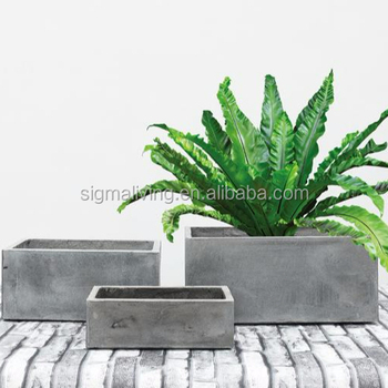 New arrival quality planters outdoor garden rectangle flower pot hand flower pot
