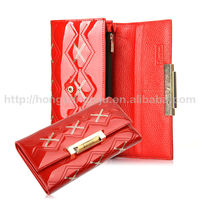 2014 new arrival European women's leather wallet for business promotion