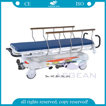 AG-HS001 hospital hydraulic stretcher for patients with handrails