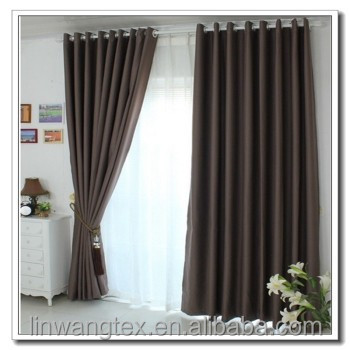 popular thick black fabric use for curtain fabric