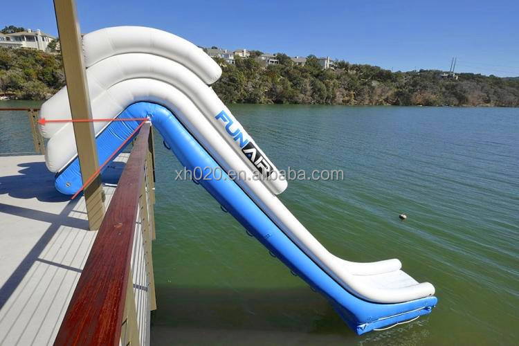 Lake 60ft customized inflatable emergency escape slide for adults