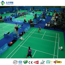 factory direct 100% PVC materials multipurpose badminton court flooring