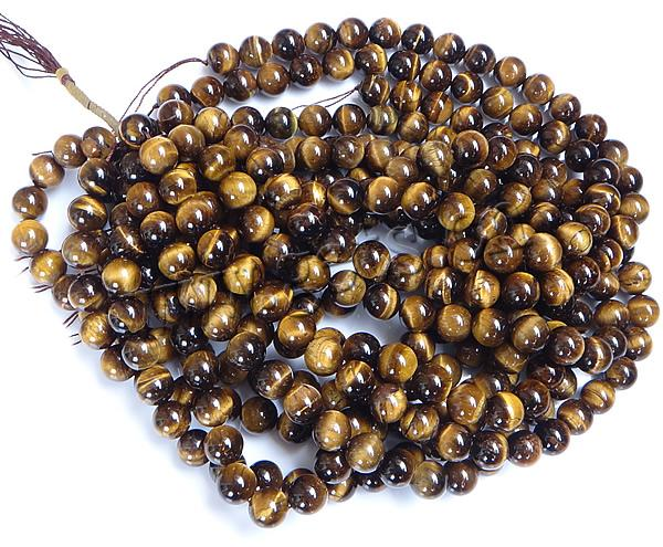 Round <strong>Natural</strong> Tiger Eye Beads
