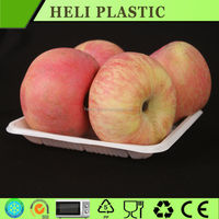 White color Square plastic fruit/apple/strawberry plate wholesale