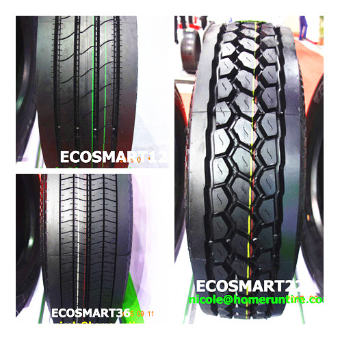 Products made in Southeast Asia commercial tires for trucks and trailer 11R22.5, 295/75R22.5 DOT SMARTWAY