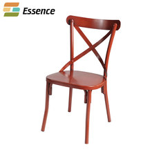 Hot new products NC paint wedding event metal x cross back chairs