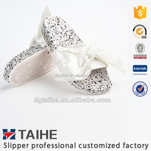 Latest design PVC slide sandals name brand slipper for women girls