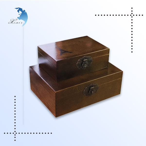 High Quality Unique CustomLogo Printed Luxury Finished Wooden Gift JewellryJewelry Set Gift Packaging Boxes with Flip Lid