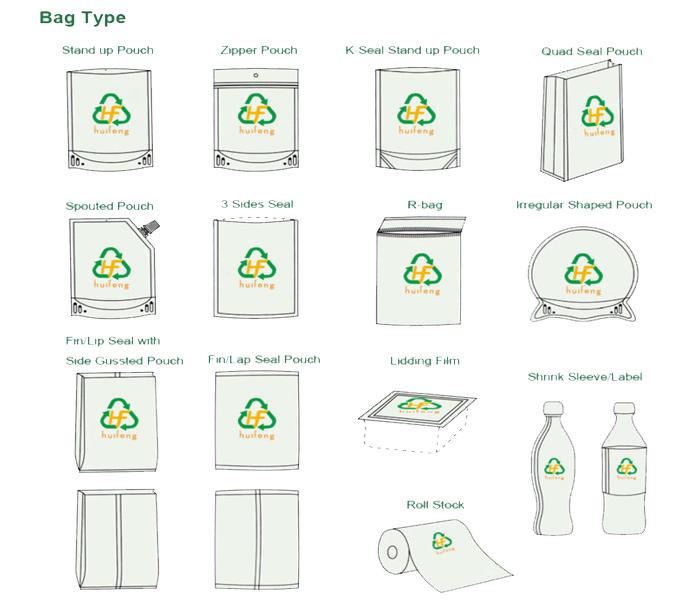 Пользовательские печатные opp целлофан рулоны полиэтиленовой пленки