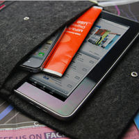 Tablet accessory sleeve leather pouch cover for Ipad Air case with card slot