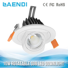 7W 10W High Power COB LED Recessed Down Light focus anti-glare adjustable downlight