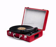 Bluetouch phonograph suitcase turntable with classic vintage design record player & antique gramophone for sale