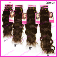 16, 18, 20 Inch High Quality Colored Natural Wave 100% Brazilian Virgin Human Hair Weave Wholesale