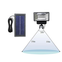 High Quality Solar Powered LED Outdoor Dusk to Dawn Security Flood Light with Motion Sensor for House,Garage,Lawn