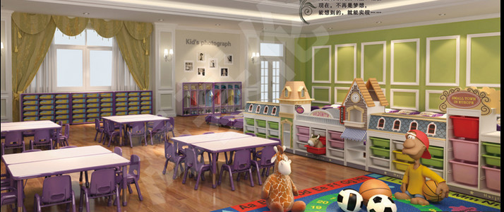 2017 new design free daycare furniture in kids toy cabinet