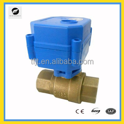 "2-way DC12V 3/4"" Full Port motor operated valve with RoHS for Irrigation equipment,drinking water equipment"