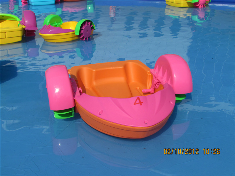 Inflatable sea water park kids play boats mini kids hand paddle boat for swimming pool