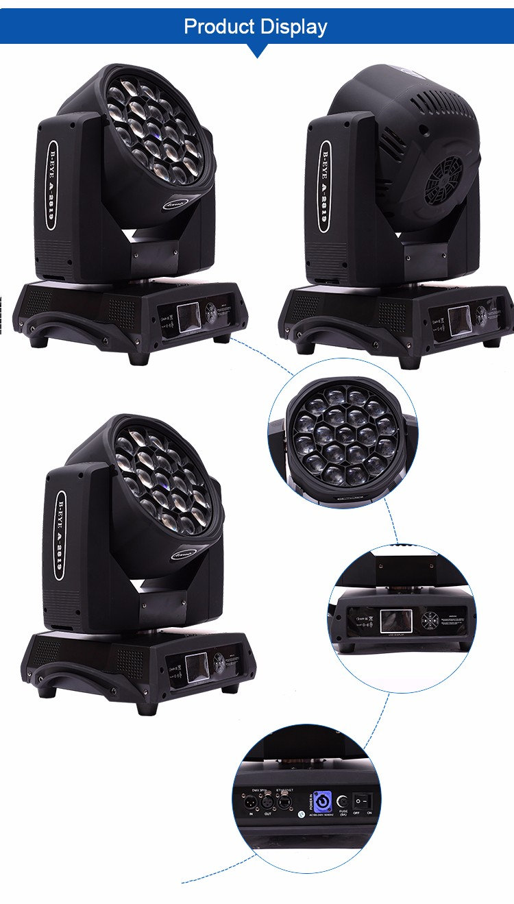 factory direct sale 19*15w clay paky b eye k10 sharpy moving head