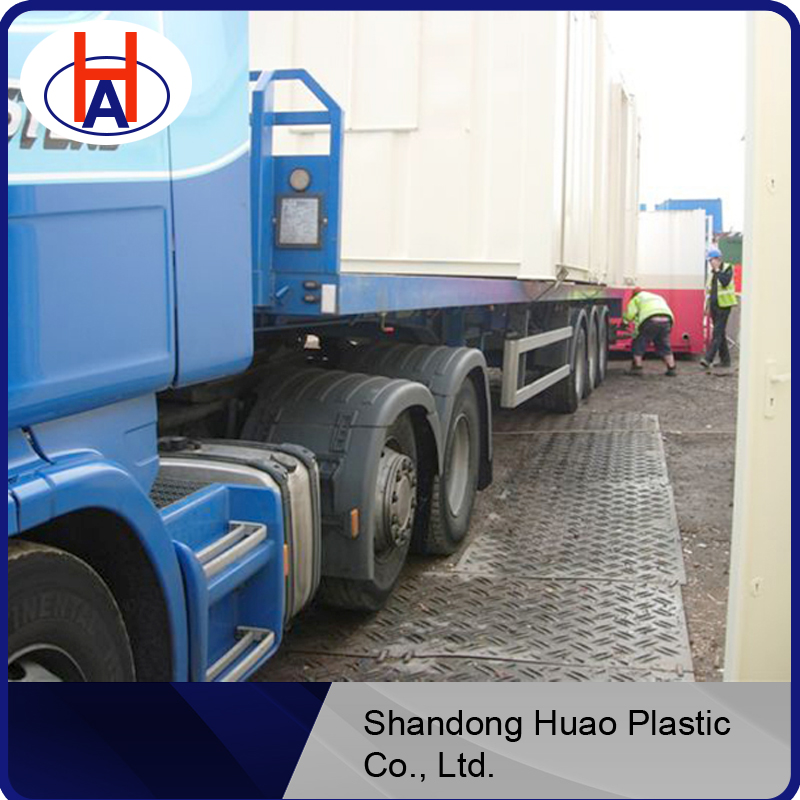 plastic truckway / black hdpe road mats with any quality /anti-slip pattern hdpe road mats from China with good quality