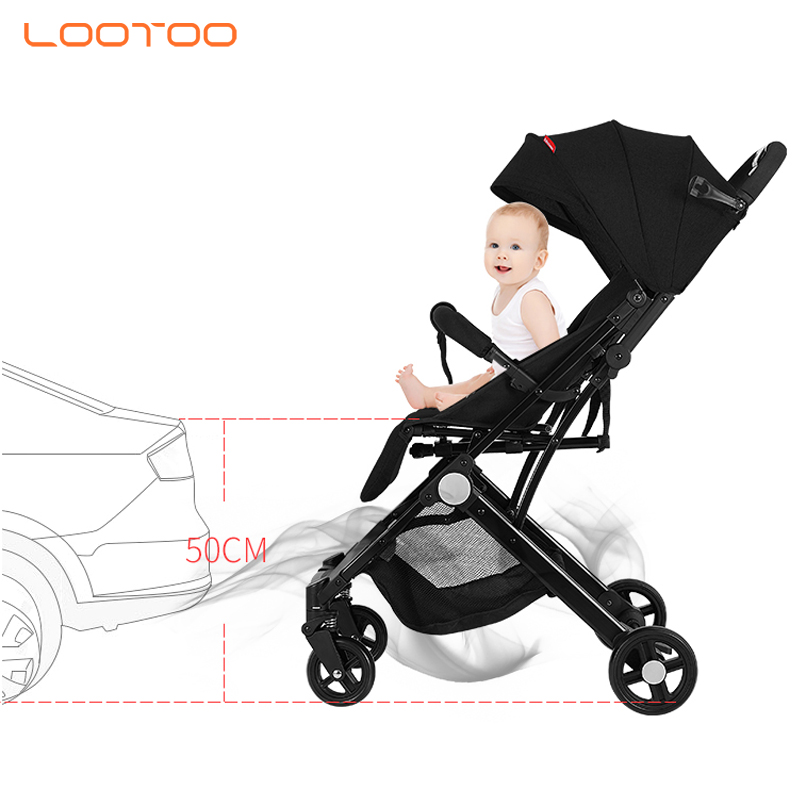 EN1888 2019 new easy hand auto foldable down lightweight airplane baby stroller