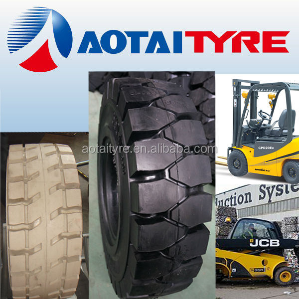 High performance aotai 750-16 9.00-16 1200-16 click linde solid tire