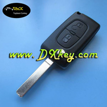 Topbest 2 button remote key with 434mhz for key remote control peugeot 307 remote key peugeot with logo