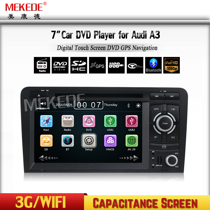 7 inch wince 6.0 system Touch Screen auto electronics For a udi a3 gps naviation with 3G audio DVD function