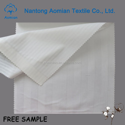 2cm poly cotton stripe sateen bedding fabric 100 cotton white