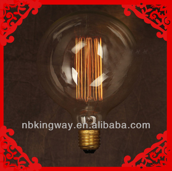 G40(G125) big globe edison bulb 40W bulbs Brass lamp holders