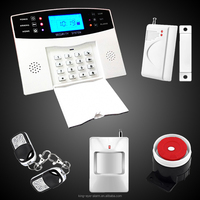 House usage 99 wireless 4 wire zones touch keypad lcd intelligent gsm wireless security alarm home