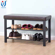 High quality metal shoe rack with cover