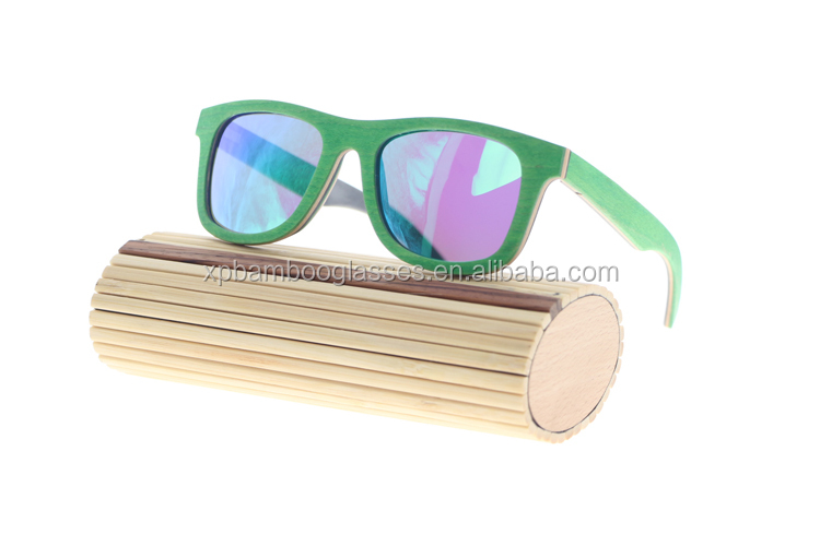 Fashion Italy Design CE Wooden Polarized Lens Womans Mirrored Sunglasses
