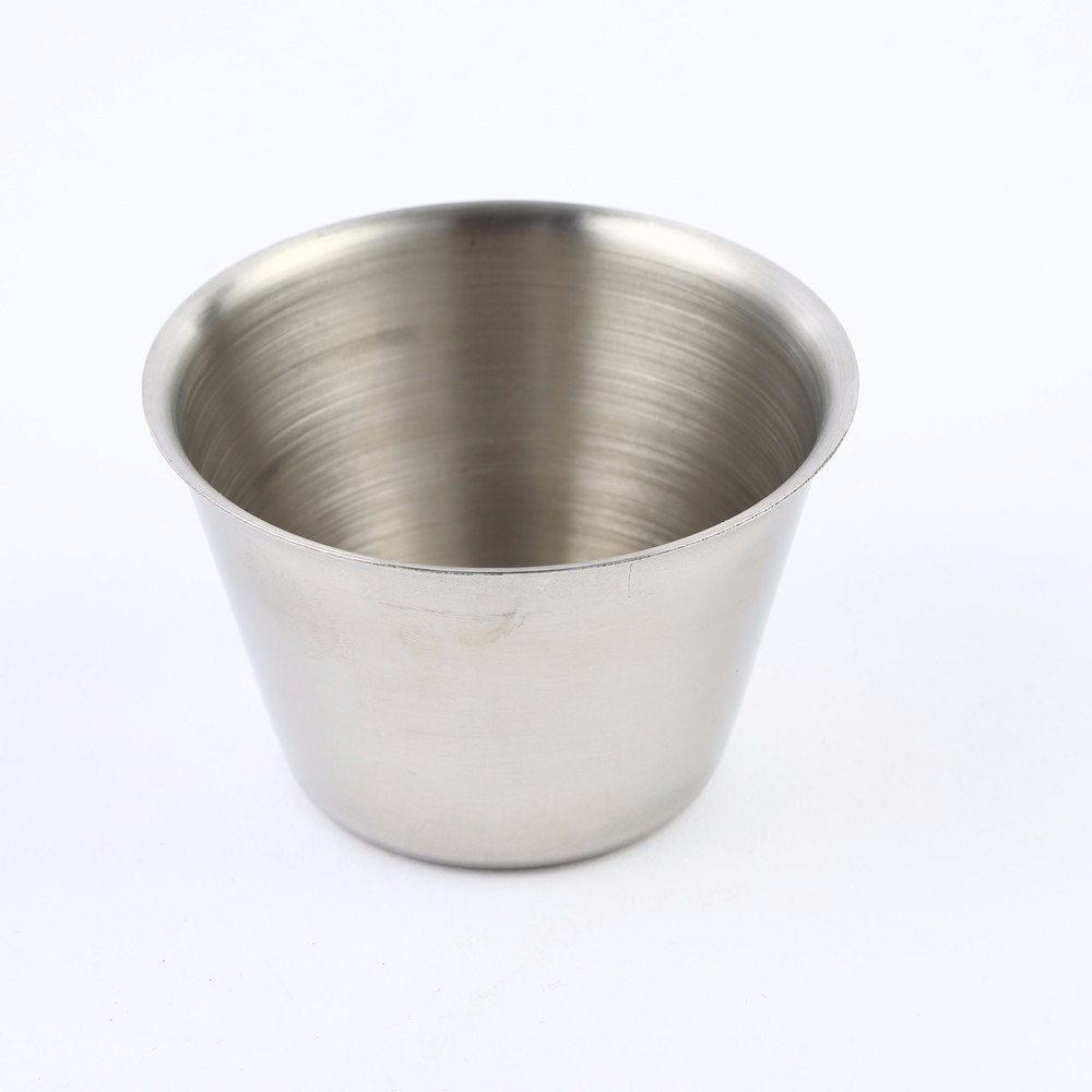 Cup Type and stainless steel 304 ,Metal Material high quality metal sauce cup