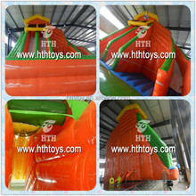 attractive PVC sports inflatable double lane slip slide