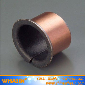 DU Bronze Flanged Bushing SF-1 Wrapped Dry Bearing SF-1F PTFE Teflon Flange Bearing Slide Bushing