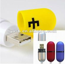 2gb usb flash drive logo,plastic pill shape usb drive 2gb,yellow round mini usb pendrive 4gb