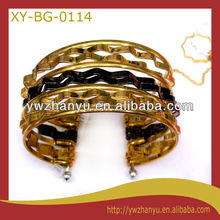 fashion friendship natural elegant two colors zig zag charm cuff bracelet bangle