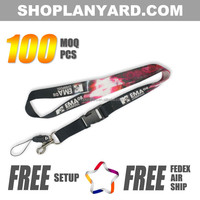 Sublimation Lanyard with safety breakaway clip