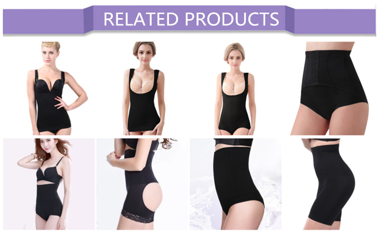 OEM Seamless Soft Nylon Women Underwear Abdominal Slimming Panties with Steel Bone