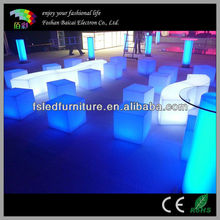 2017 new stylish LED cube seating/ led luminous furniture/Waterproof LED cube table lighting
