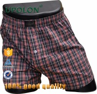 Upolon Wholesale Customized Fabric Printing Cotton Fashion Mens Boxer Shorts yarn