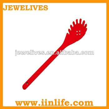 Comb shape long handle silicone spoon with leak