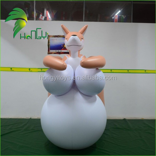 Hongyi Customized Inflatable Sex Cartoon, Giant Beautiful Inflatable Animal Sex Girl With Big Belly