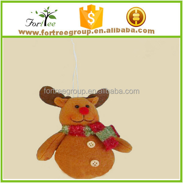 cheap christmas animated plush ornaments bulk design