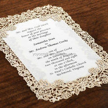 hot sale laser cut decoration rose flower wedding invitations