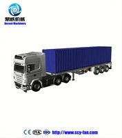 20 feet small gooseneck low flat-panel semi-trailer/3 axle low bed semi trailer