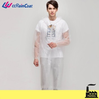cardigan adult peva clear raincoat for men and women