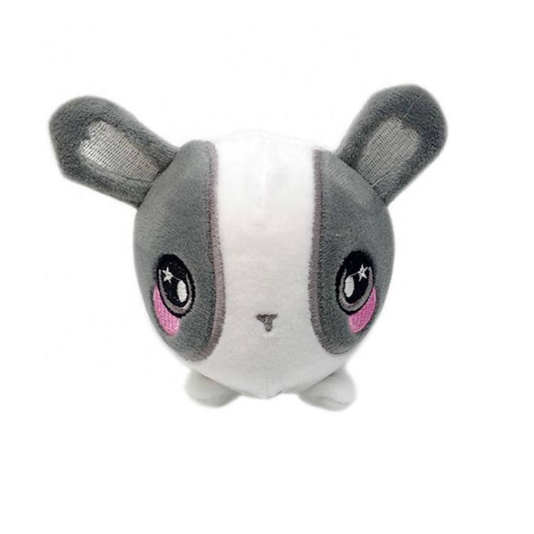 Wholesale Gray And White <strong>Rabbit</strong> Small Slow Rising Stress Ball