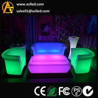A Set of led furiniture equipment both sofa table and cube