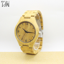 TJW blank dial wood watch wooden wristwatch <strong>bamboo</strong> with watches packing box watch lighter
